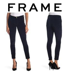Frame Le High Ankle Crop Skinny Jeans Dark Navy
